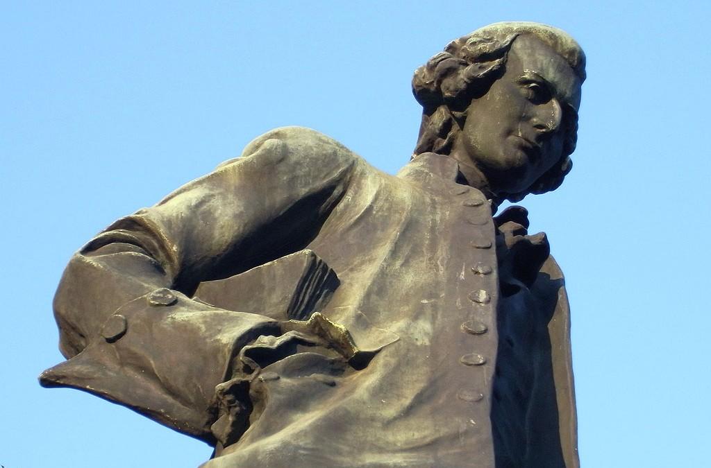 Statue Jean-Jacques Rousseau du Clos Savoiroux