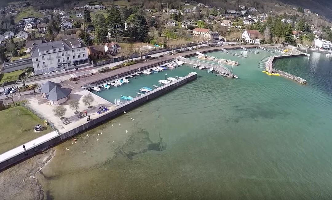 Le lac du Bourget par un drone