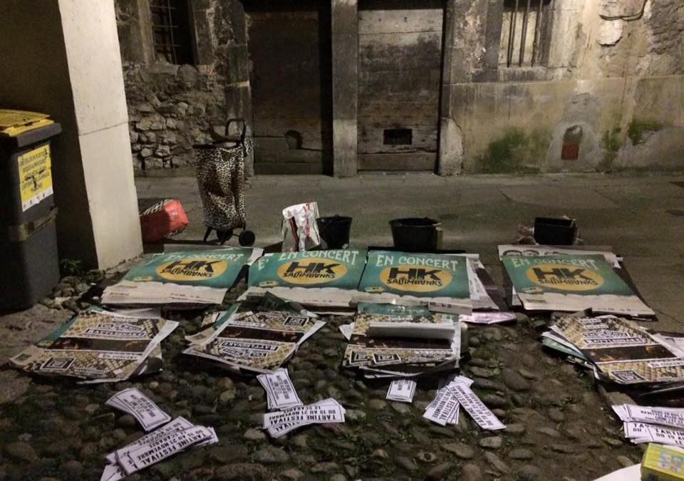 L'équipe du Tartine Festival très organisée pour sa campagne d'affichage !