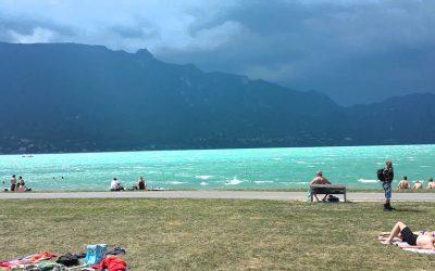 Un orage sur le Lac du Bourget