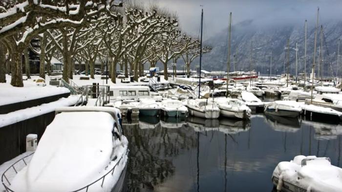Le Lac du Bourget, l'hiver